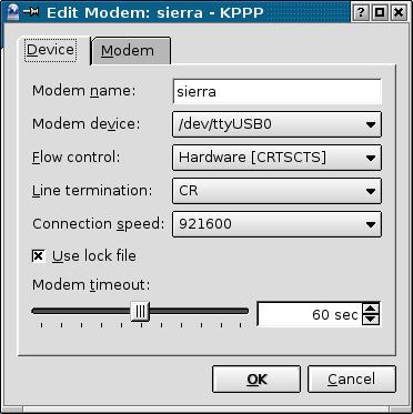 kppp modem setting